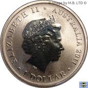 1 Dollar - Elizabeth II (4th Portrait - Bush Babies - Kangaroo) – obverse