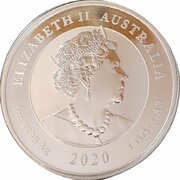 1 Dollar - Elizabeth II (6th Portrait - Double Pixiu - Silver Bullion Coin) -  obverse
