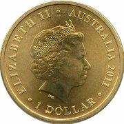 1 Dollar - Elizabeth II (4th Portrait - Bush Babies - Dingo) -  obverse