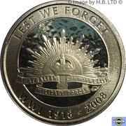 1 Dollar - Elizabeth II (4th Portrait - 90th Anniversary End of WWI) -  reverse
