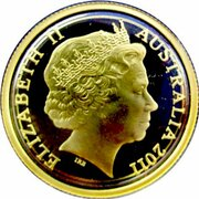 10 Dollars - Elizabeth II (4th Portrait - Ram's Head - Gold Proof) -  obverse