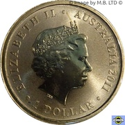 1 Dollar - Elizabeth II (4th Portrait - Dame Nellie Melba) – obverse