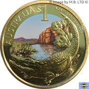 1 Dollar - Elizabeth II (4th Portrait - Northern Territory) – reverse