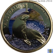 1 Dollar - Elizabeth II (4th Portrait - Macquarie Island) – reverse