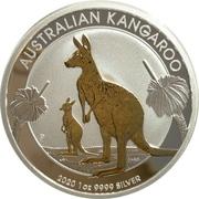 1 Dollar - Elizabeth II (6th Portrait - Australia Gilded Kangaroo) -  reverse
