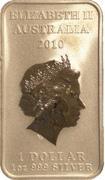 1 Dollar - Elizabeth II (4th Portrait - Dolphin Dreaming) -  obverse