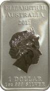 1 Dollar - Elizabeth II (4th Portrait - Platypus Dreaming) -  obverse