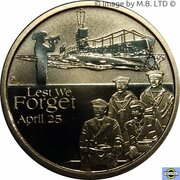 1 Dollar - Elizabeth II (4th Portrait - Lest We Forget - Submarines) -  reverse