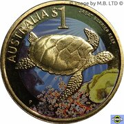 1 Dollar - Elizabeth II (4th Portrait - Great Barrier Reef) – reverse