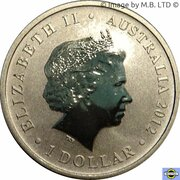 1 Dollar - Elizabeth II (4th Portrait - Young Collectors - Cheetah) -  obverse