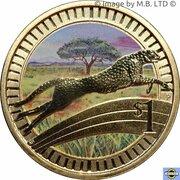 1 Dollar - Elizabeth II (4th Portrait - Young Collectors - Cheetah) -  reverse