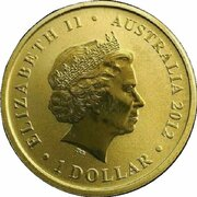 1 Dollar - Elizabeth II (4th Portrait - Young Collectors - Marathon Butterfly) – obverse