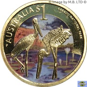 1 Dollar - Elizabeth II (4th Portrait - Kakadu National Park) – reverse