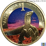1 Dollar - Elizabeth II (4th Portrait - Uluru-Kata Tjuta National Park) – reverse