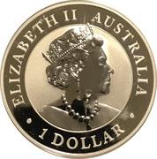 1 Dollar - Elizabeth II (6th Portrait - Australian Brumby - Silver Bullion Coin) -  obverse