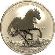 1 Dollar - Elizabeth II (6th Portrait - Australian Brumby - Silver Bullion Coin) -  reverse