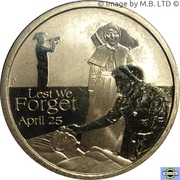 1 Dollar - Elizabeth II (4th Portrait - Lest We Forget - Nurses) -  reverse