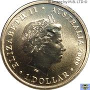 1 Dollar - Elizabeth II (4th Portrait - Year of Astronomy - Stargazing) -  obverse