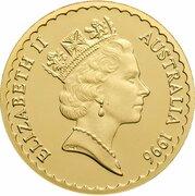 150 Dollars - Elizabeth II (3rd Portrait - Tasmanian Blue Gum - Gold Proof) -  obverse