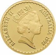 150 Dollars - Elizabeth II (3rd Portrait - Waratah - Gold Proof) – obverse