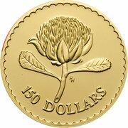 150 Dollars - Elizabeth II (3rd Portrait - Waratah - Gold Proof) – reverse