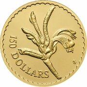 150 Dollars - Elizabeth II (3rd Portrait - Kangaroo Paw - Gold Proof) -  reverse