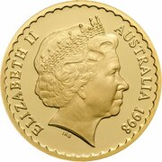 150 Dollars - Elizabeth II (4th Portrait - Desert Pea - Gold Proof) -  obverse