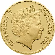 150 Dollars - Elizabeth II (4th Portrait - Golden Wattle - Gold Proof) – obverse