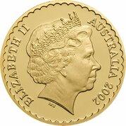 150 Dollars - Elizabeth II (4th Portrait - Sturts Desert Rose - Gold Proof) – obverse