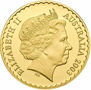 150 Dollars - Elizabeth II (4th Portrait - Bluebell - Gold Proof) – obverse