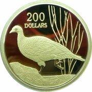 200 Dollars - Elizabeth II (4th Portrait - Mallee Fowl - Gold Proof) -  reverse