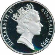 10 Dollars - Elizabeth II (3rd Portrait - Numbat - Frosted Proof) – obverse