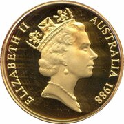 200 Dollars - Elizabeth II (3rd Portrait - First Fleet Arrival - Gold Bullion Coin) -  obverse
