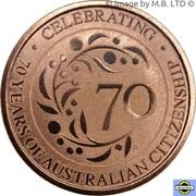 1 Dollar - Elizabeth II (6th Portrait - Australian Citizenship 70 Years) -  reverse