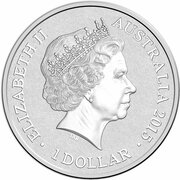 1 Dollar - Elizabeth II (4th Portrait - Alphabet Collection - Letter G - Silver Proof) -  obverse