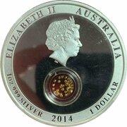 1 Dollar - Elizabeth II (4th Portrait - Treasures of the World - Gold - Silver Proof) -  obverse