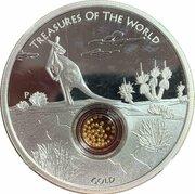 1 Dollar - Elizabeth II (4th Portrait - Treasures of the World - Gold - Silver Proof) -  reverse