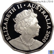 50 Cents - Elizabeth II (6th Portrait - Fine Silver Proof) -  obverse