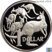 1 Dollar - Elizabeth II (6th Portrait - Fine Silver Proof) -  reverse