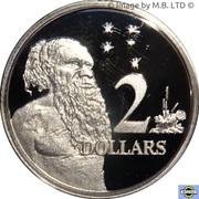 2 Dollars - Elizabeth II (6th portrait - Fine Silver Proof) -  reverse