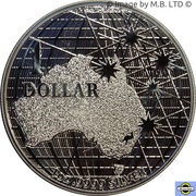 1 Dollar - Elizabeth II (6th Portrait - Beneath the Southern Skies - Silver Bullion Coin) -  reverse
