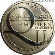 1 Dollar - Elizabeth II (4th Portrait - 90th Birthday QE II) -  reverse