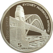 5 Dollars - Elizabeth II (4th Portrait - Sydney Harbour Bridge) -  reverse