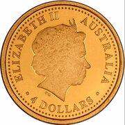 4 Dollars - Elizabeth II (4th Portrait - The Australian Nugget) -  obverse