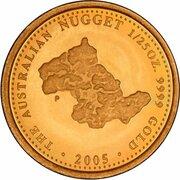 4 Dollars - Elizabeth II (4th Portrait - The Australian Nugget) -  reverse