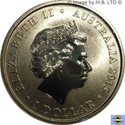 1 Dollar - Elizabeth II (4th Portrait - Birth HRH Princess Charlotte) -  obverse