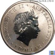 1 Dollar - Elizabeth II (4th Portrait - Australian Butterfly - Richmond Birdwing ) -  obverse