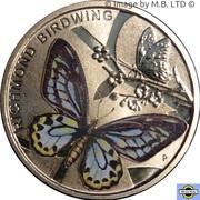 1 Dollar - Elizabeth II (4th Portrait - Australian Butterfly - Richmond Birdwing ) -  reverse