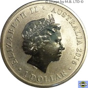 1 Dollar - Elizabeth II (4th Portrait - Letters From Home) -  obverse