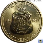 1 Dollar - Elizabeth II (4th Portrait - RSL Centenary) -  reverse